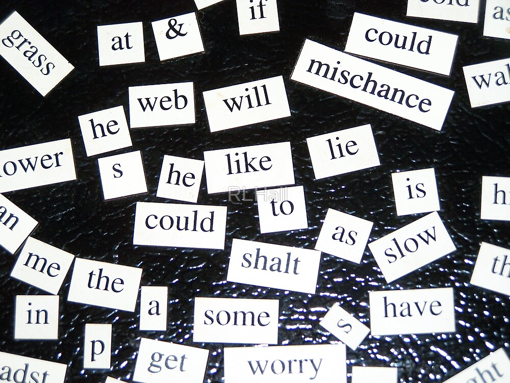 Magnetic Poetry  by RLHall