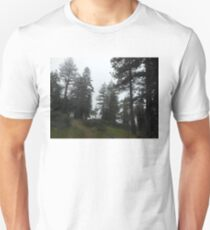 pines forest trail, dark 05/05/17 Unisex T-Shirt