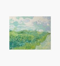 Vincent van Gogh Green Wheat Fields, Auvers 1890 Painting Art Board
