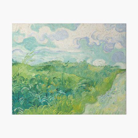Vincent van Gogh Green Wheat Fields, Auvers 1890 Painting Art Board Print