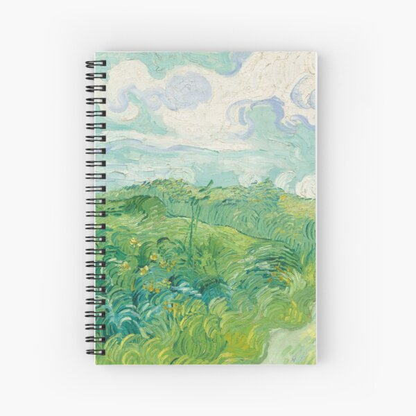 Vincent van Gogh Green Wheat Fields, Auvers 1890 Painting Spiral Notebook
