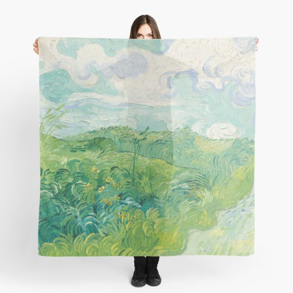 Vincent van Gogh Green Wheat Fields, Auvers 1890 Painting Scarf