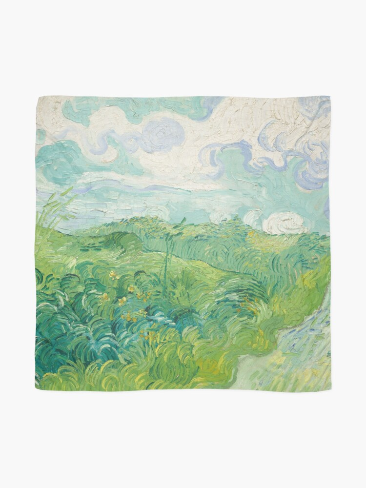 Alternate view of Vincent van Gogh Green Wheat Fields, Auvers 1890 Painting Scarf