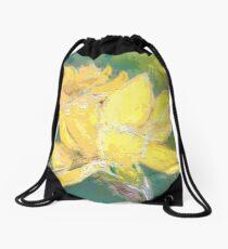 Retro Comic Daffodil Drawstring Bag