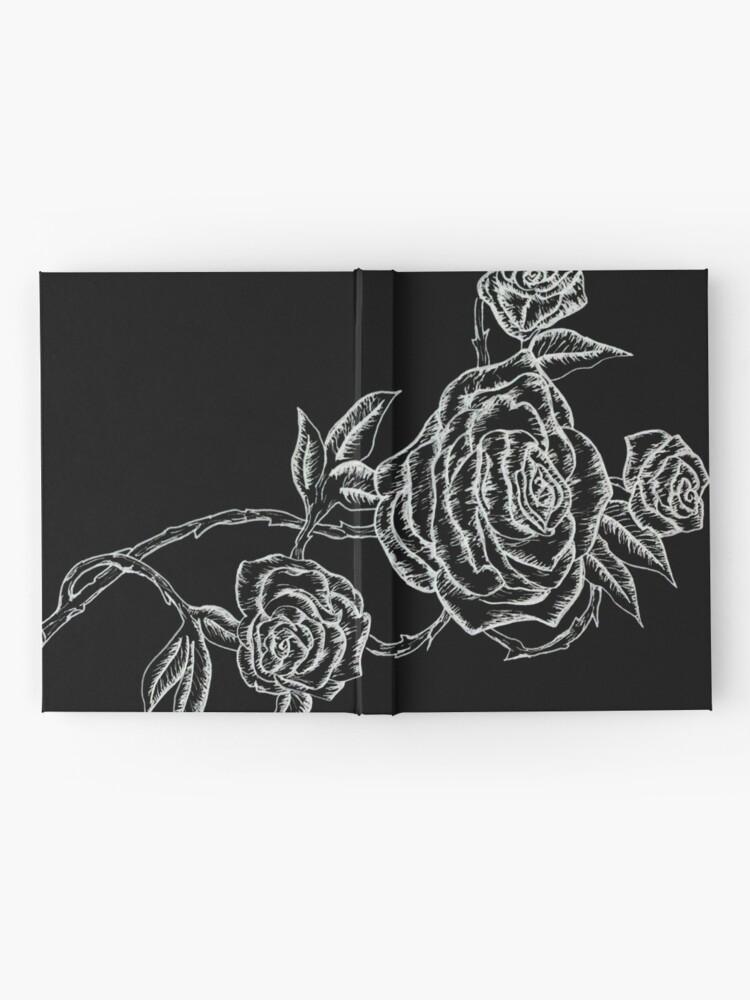 Vista alternativa de Cuaderno de tapa dura Inked Roses - Invertido
