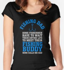 Fishing Dad Women's Fitted Scoop T-Shirt