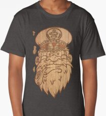 Captain Salty on Wood. Long T-Shirt