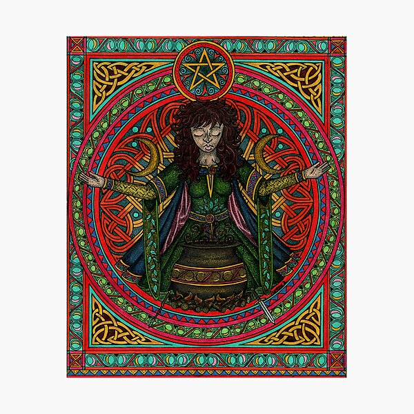 Hedgewitch Wiccawitch Photographic Print
