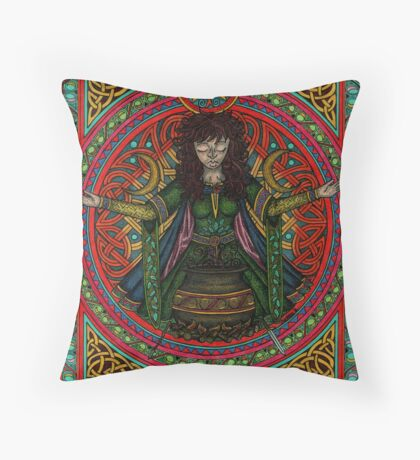 Hedgewitch Wiccawitch Throw Pillow