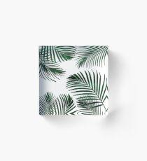 Tropical Palm Leaf Acrylic Block