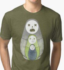 Zombie nesting dolls  Tri-blend T-Shirt