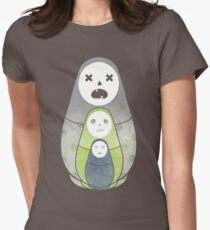 Zombie nesting dolls  Womens Fitted T-Shirt