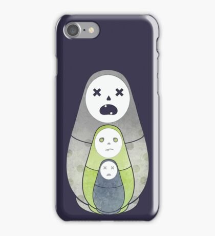 Zombie nesting dolls  iPhone Case/Skin