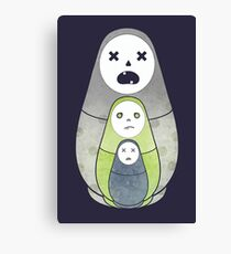 Zombie nesting dolls  Canvas Print