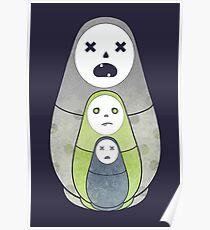 Zombie nesting dolls  Poster