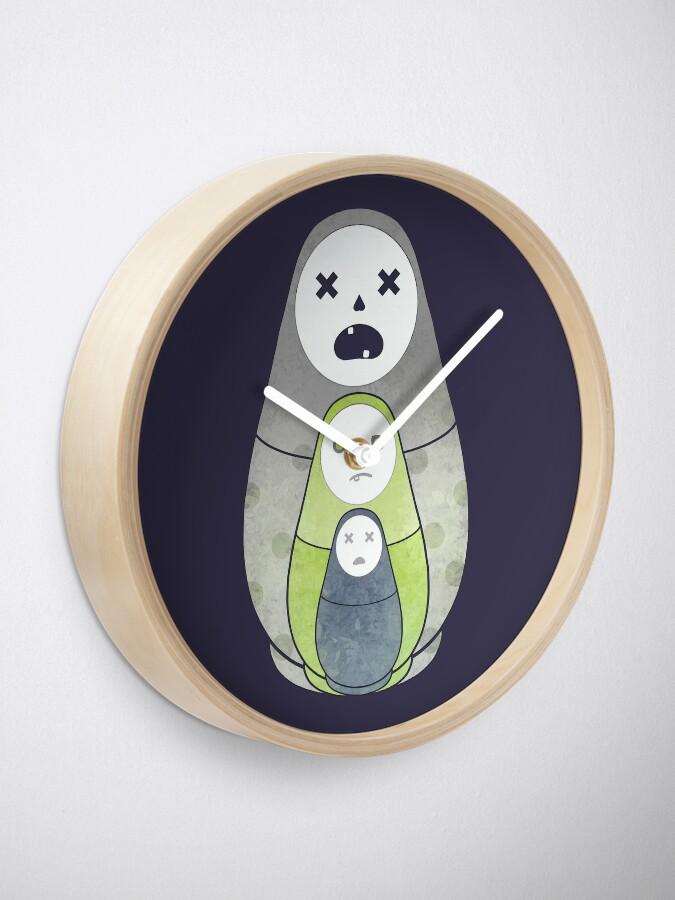 Alternate view of Zombie nesting dolls  Clock