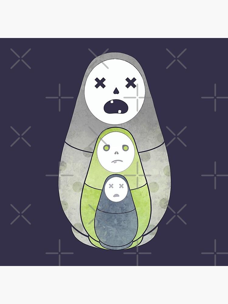 Zombie nesting dolls  by Elenanaylor