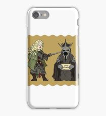 Eowyn y el Rey Brujo iPhone Case/Skin