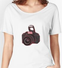Camera Shooter Red Women's Relaxed Fit T-Shirt