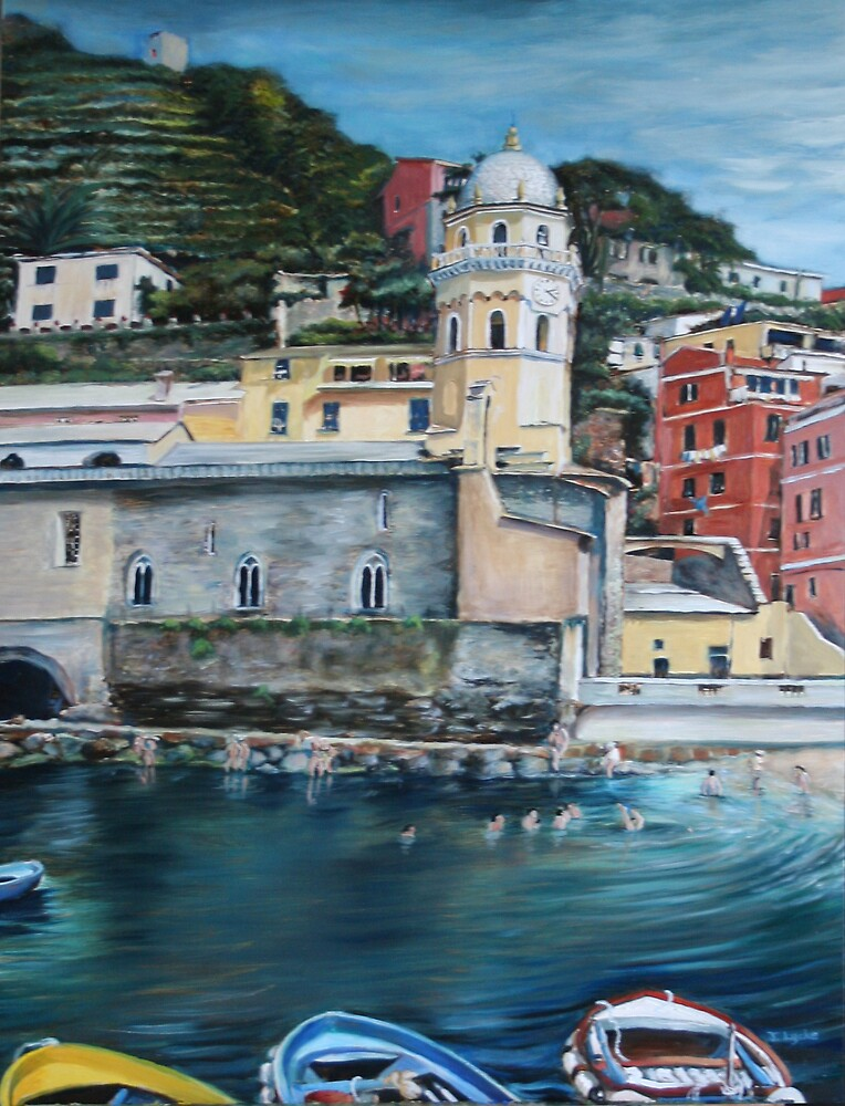 View of Vernazza by Jennifer Lycke