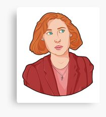 Scully - The X Files Canvas Print
