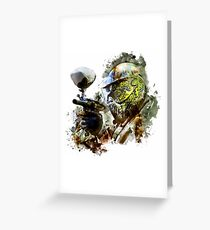 Paintball Painting Greeting Card
