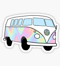 Iridescent Hippie Van Sticker