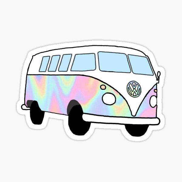 Iridescent Hippie Van Sticker