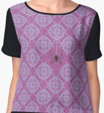 Widowmaker Logo inspired print [BLUE] Women's Chiffon Top