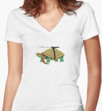A Turtle Ninja Women's Fitted V-Neck T-Shirt