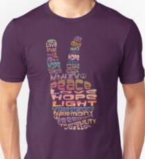Camiseta ajustada Paz camisetas
