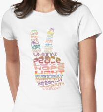 Peace tshirts Womens Fitted T-Shirt