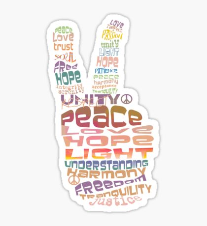 Peace tshirts Sticker