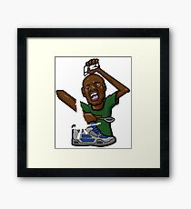 Sneacker Lover - Amoureux des Chaussures Framed Print