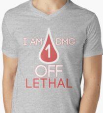 Forsen - 1 DMG off Lethal Men's V-Neck T-Shirt