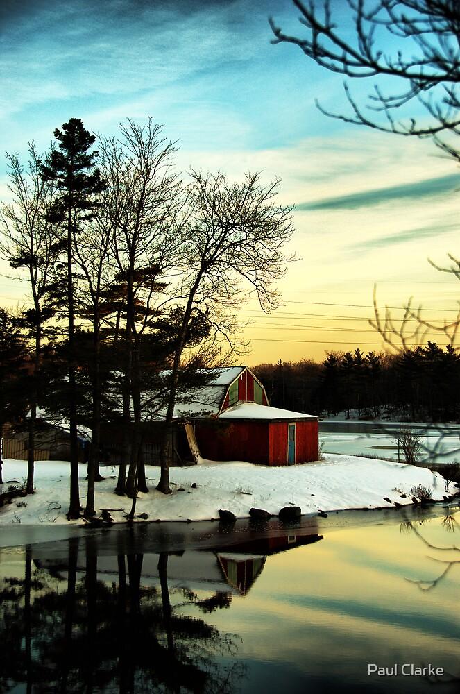 Red Barn by Paul Clarke