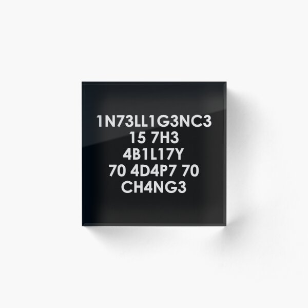 Intelligence Acrylic Block