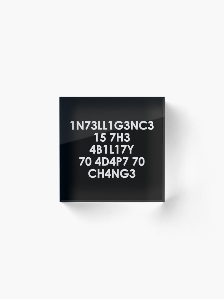 Alternate view of Intelligence Acrylic Block