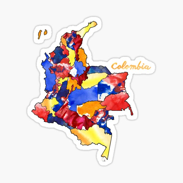 Watercolor Countries - Colombia Sticker