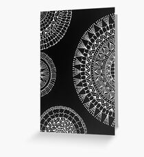 Black and white mandala Greeting Card