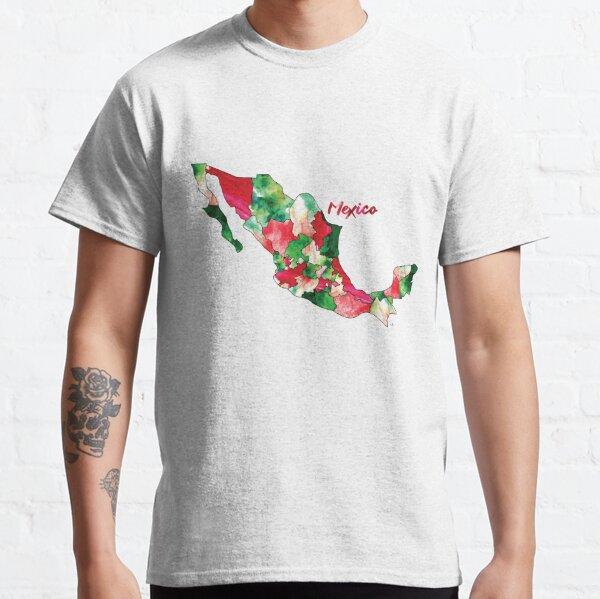 Países Acuarelas - México Camiseta clásica