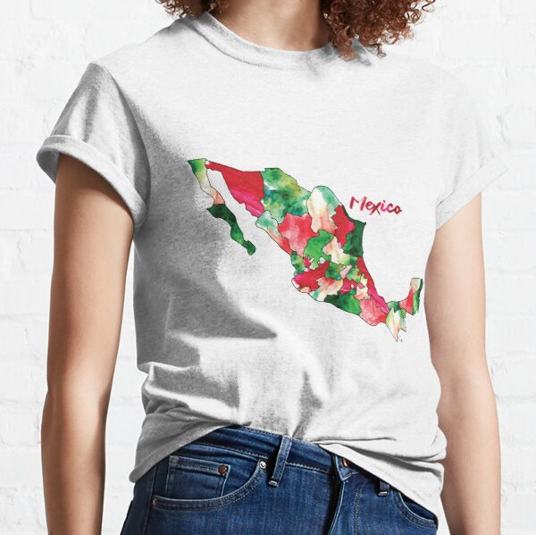 Watercolor Countries - Mexico Classic T-Shirt
