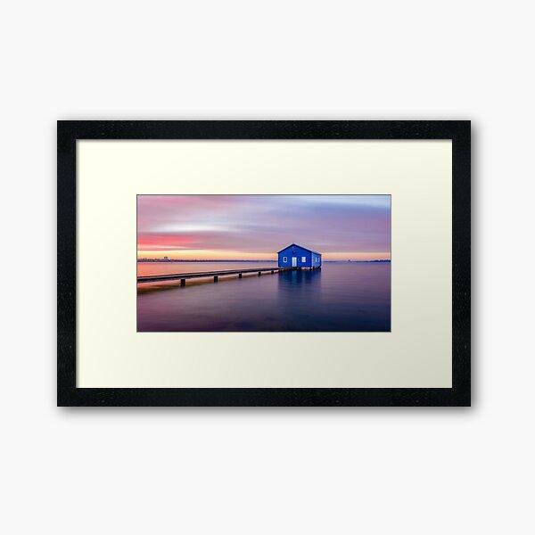 Swan River Sunrise Framed Art Print