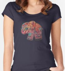 Vintage Elephant TShirt Women's Fitted Scoop T-Shirt