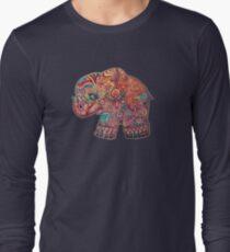 Vintage Elephant TShirt Long Sleeve T-Shirt