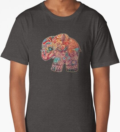 Vintage Elephant TShirt Long T-Shirt