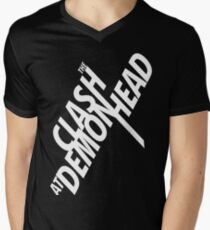 The Clash at Demonhead White V-Neck T-Shirt