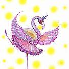 lime light flamingo  by melaniedann