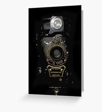 VINTAGE AUTOGRAPHIC BROWNIE FOLDING CAMERA Greeting Card