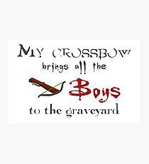 Buffy's Crossbow Photographic Print